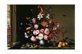 Vase of Flowers by a Side Window Metal Print by Balthasar van der Ast