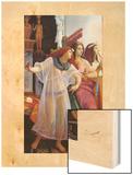 Ramses in His Harem (Detail), 1866 Wood Print by Jean Jules Antoine Lecomte du Nouy
