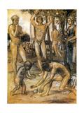 The Ages of Life 1873-4 (Les Ages de la Vie) Metal Print by Hans Von Marees