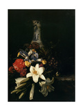 Bouquet de Fleur Devant un Vase de Chine, 1661 Metal Print by Josepha