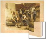 La Paye des Moissonneurs, 1882 (Payroll Reapers) Wood Print by Leon Lhermitte