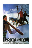 Sports d'Hiver 1929 Metal Print by Roger Broders