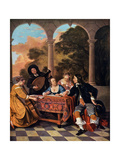 Company Making Music (Compagnie Faisant de la Musique) Metal Print by Jacob van Loo