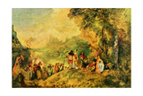 Boarding for Kythira, 1684-1721 (Embarquement Pour Cythere) Metal Print by Antoine Watteau
