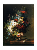 Still Life with Flowers, 1789 (Nature Morte Aux Fleurs) Metal Print by Cornelis van Spaendonck