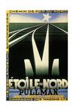 L'Etoile Du Nord, 1927 Reproduction sur métal par Adolphe Mouron Cassandre