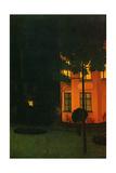 The Pink House, 1892 (La Maison Rose) Metal Print by William Degouve de Nuncques