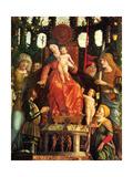 Madonna of Victory (La Vierge de la Victoire) (Detail) Metal Print by Mantegna Andrea