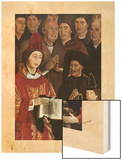Adoration of St Vincent Wood Print by Nuno Goncalves
