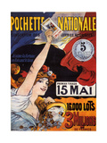 Loterie-Pochette Nationale 1907 (National Pocket Lottery) Metal Print by Maurice Tamagno
