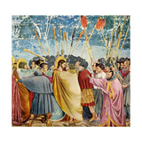 The Betrayal of Judas (Le Baiser de Judas) Poster af Giotto di Bondone