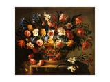 Basket of Flowers, 1671 (Corbeille a Fleurs) Metal Print by Juan de Arellano
