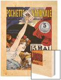 Loterie-Pochette Nationale 1907 (National Pocket Lottery) Wood Print by Maurice Tamagno