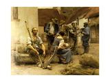 La Paye des Moissonneurs, 1882 (Payroll Reapers) Metal Print by Leon Lhermitte