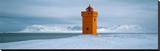 Krossnes lighthouse, Iceland Opspændt lærredstryk af Jean Guichard