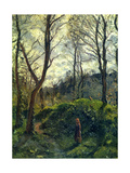 Landscape with Big Trees Metal Print by Camille Pissarro