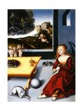 La Melancolie, 1532 (Melancholy) Metal Print by Lucas Cranach