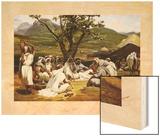L'Arabe Diseur de Contes, 1833 Wood Print by Horace Vernet