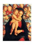 The Virgin and Child with Cherubim (La Vierge et L'enfant Avec Les Cherubins) Metal Print by Mantegna Andrea