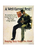 A Well Earned Rest 1930 Metal Print by Frank Mather Beatty