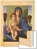 Madonna and Child, 1430 (Madone et Enfants) Wood Print by Giovanni Bellini