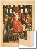 Madonna of Victory (La Vierge de la Victoire) (Detail) Wood Print by Mantegna Andrea