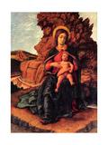 Madonna of the Cave (La Vierge a la Grotte) Metal Print by Mantegna Andrea