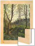 Landscape with Big Trees Wood Print by Camille Pissarro