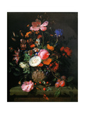 Bouquet of Flowers in a Vase by Pierre, 1677 (Bouquet de Fleurs Dans un Vase de Pierre) Metal Print by Jacob van Walscapelle