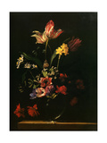 Bouquet of Flowers, 1650 Metal Print by Jean-michel Picart