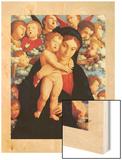 The Virgin and Child with Cherubim (La Vierge et L'enfant Avec Les Cherubins) Wood Print by Mantegna Andrea