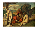 Le Concert Champetre Metal Print by  Giorgione