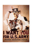 Recovery Propaganda Example (Uncle Sam), 1970 Metal Print