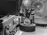 The Beatles in the Set of Top of the Pops, 1967 Stretched Canvas Print