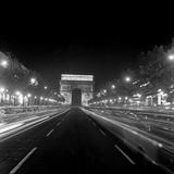 Paris, Champs-Elysees, Arc de Triumphe Póster
