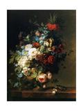 Still Life with Flowers, 1789 (Nature Morte Aux Fleurs) Reproducción en lienzo de la lámina por Cornelis van Spaendonck