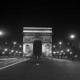 Paris, Champs-Elysees, Arc de Triumph, 1960s Póster