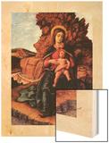 Madonna of the Cave (La Vierge a la Grotte) Wood Print by Mantegna Andrea