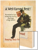 A Well Earned Rest 1930 Wood Print by Frank Mather Beatty