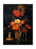Bouquet of Flowers (Bouquet de Fleurs) Metal Print by Maria Van Oosterwyck