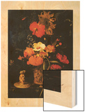 Bouquet of Flowers (Bouquet de Fleurs) Wood Print by Maria Van Oosterwyck