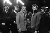 The Beatles and Ed Sullivan, 1965 Lærredstryk på blindramme