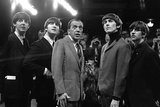 The Beatles and Ed Sullivan, 1965 Stretched Canvas Print