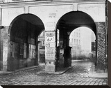 Paris, about 1865 - The Double Doorway, rue de la Ferronnerie Stretched Canvas Print by Charles Marville