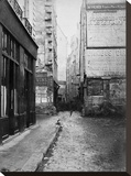 Paris, 1860-1870 - Rue Tirechappe Stretched Canvas Print by Charles Marville