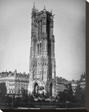 Paris, 1857-1859 - The Tour St. Jacques Stretched Canvas Print by Gustave Le Gray