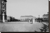 Paris, about 1877 - Place de l'Etoile Stretched Canvas Print by Charles Marville