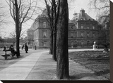 Paris, 1902-1903 - Luxembourg Gardens Stretched Canvas Print by Eugene Atget