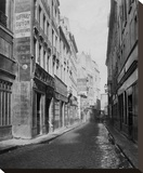 Paris, 1865 - Rue des Bourdonnais de la rue de Rivoli Stretched Canvas Print by Charles Marville