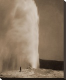 Old Faithful, 1870 Stretched Canvas Print by William Henry Jackson